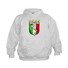 Italy flag emblem coat of arms Map Cre Hoodie