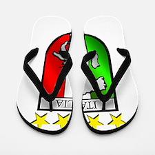 Italy flag emblem coat of arms Map Cres Flip Flops