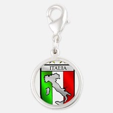 Italy flag emblem coat of arms Map Crest Charms