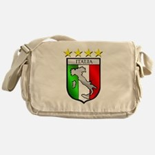 Italy flag emblem coat of arms Map C Messenger Bag