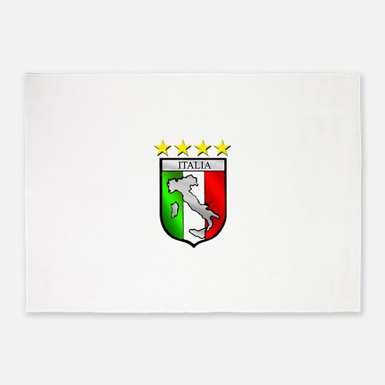 Italy flag emblem coat of arms Map 5'x7'Area Rug