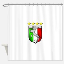 Italy flag emblem coat of arms Map Shower Curtain