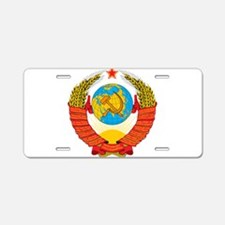 USSR Coat of Arms 15 Republ Aluminum License Plate