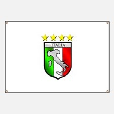 Italy flag emblem coat of arms Map Crest Banner