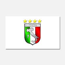 Italy flag emblem coat of arms Car Magnet 20 x 12