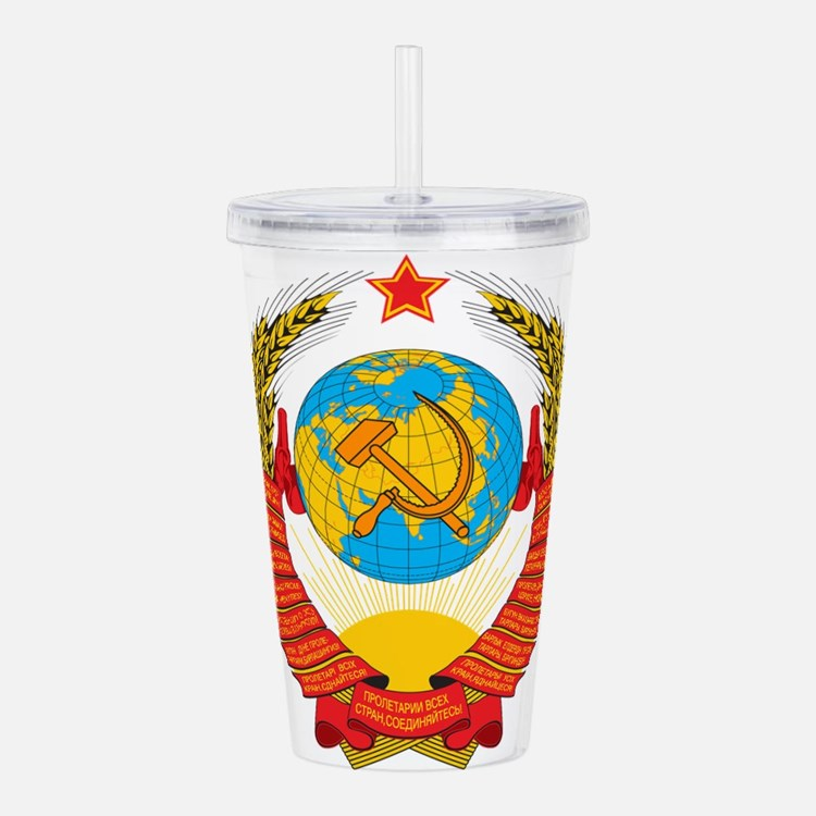 USSR Coat of Arms 15 R Acrylic Double-wall Tumbler