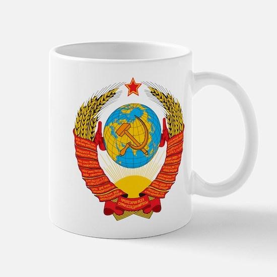 USSR Coat of Arms 15 Republic Emblem Mugs