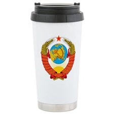 USSR Coat of Arms 15 Re Travel Coffee Mug