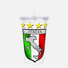Italy flag emblem coat Acrylic Double-wall Tumbler