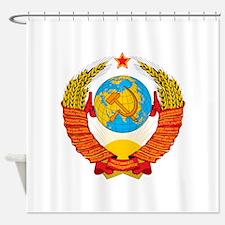 USSR Coat of Arms 15 Republic Emble Shower Curtain