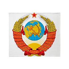 USSR Coat of Arms 15 Republic Emblem Throw Blanket