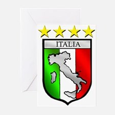 Italy flag emblem coat of arms Map Greeting Cards