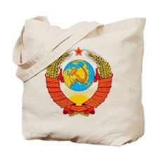 USSR Coat of Arms 15 Republic Emblem Tote Bag