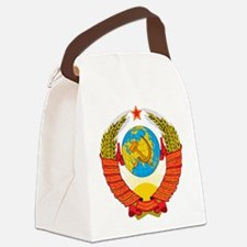 USSR Coat of Arms 15 Republic Emb Canvas Lunch Bag