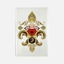 New Orleans Monogram F Rectangle Magnet