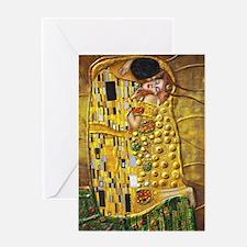 Klimt- Kiss Greeting Card