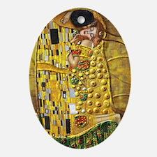 Klimt- Kiss Oval Ornament