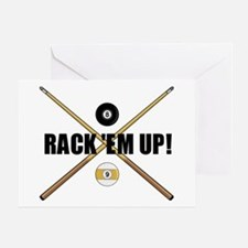 Rack 'em up Greeting Card