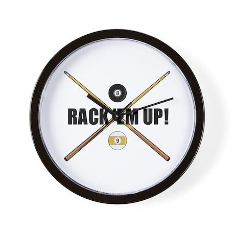 Rack 'em up Wall Clock