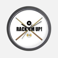 Rack 'em up Wall Clock