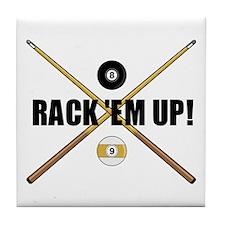 Rack 'em up Tile Coaster