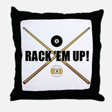 Rack 'em up Throw Pillow
