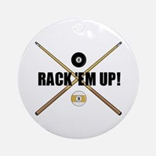 Rack 'em up Ornament (Round)