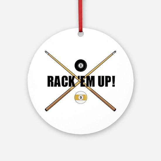 Rack 'em up Ornament (Round)