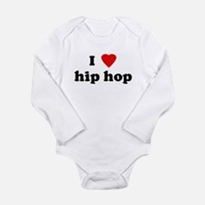 Cute I hip hop Long Sleeve Infant Bodysuit