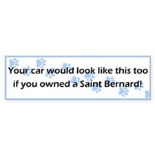 Your Car Saint Bernard Bumper Car Sticker
