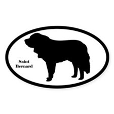 Saint Bernard Silhouette Stickers