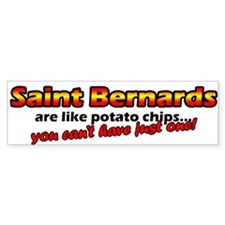 Potato Chips Saint Bernard Bumper Bumper Bumper Sticker