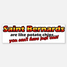 Potato Chips Saint Bernard Bumper Bumper Bumper Sticker