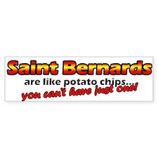 Potato Chips Saint Bernard Bumper Car Sticker