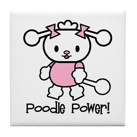 Poodle Power Tile Coaster