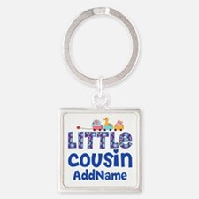 Personalized Little Cousin Square Keychain