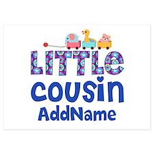 Personalized Little Cousin Invitations