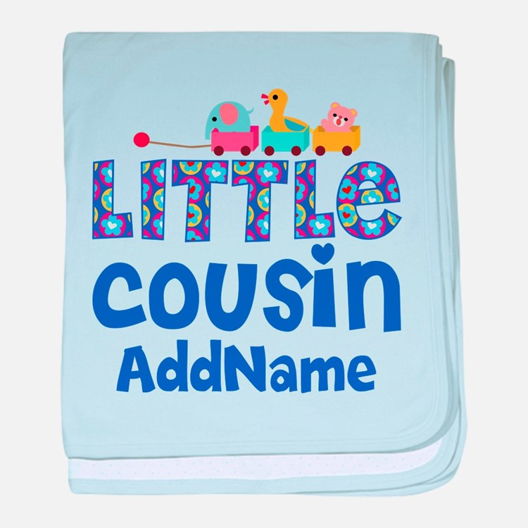 Personalized Little Cousin baby blanket