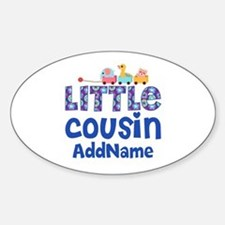 Personalized Little Cousin Sticker (Oval)