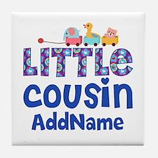 Personalized Little Cousin Tile Coaster