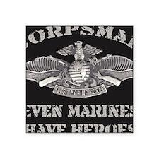 "Navy Corpsman Square Sticker 3"" x 3"""