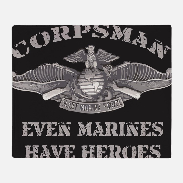 Navy Corpsman Throw Blanket