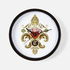 New Orleans Monogram T Wall Clock