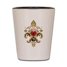 New Orleans Monogram V Shot Glass