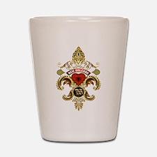 New Orleans Monogram W Shot Glass