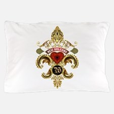 New Orleans Monogram W Pillow Case