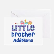 Personalized Little Brother Greeting Card