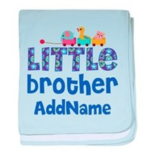 Personalized Little Brother baby blanket