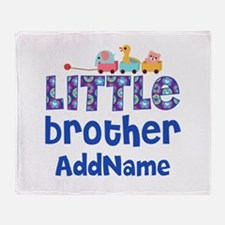 Personalized Little Brother Throw Blanket