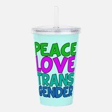 Peace Love Trans Acrylic Double-wall Tumbler